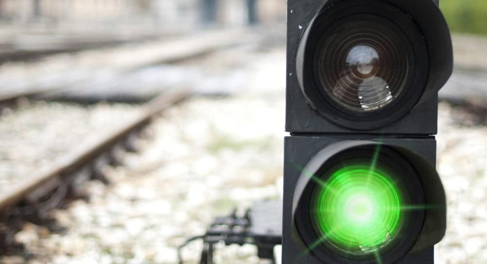 Rail Signalling lights