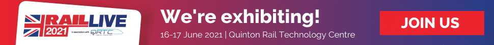 Rail Live 2021 We're exhibiting banner